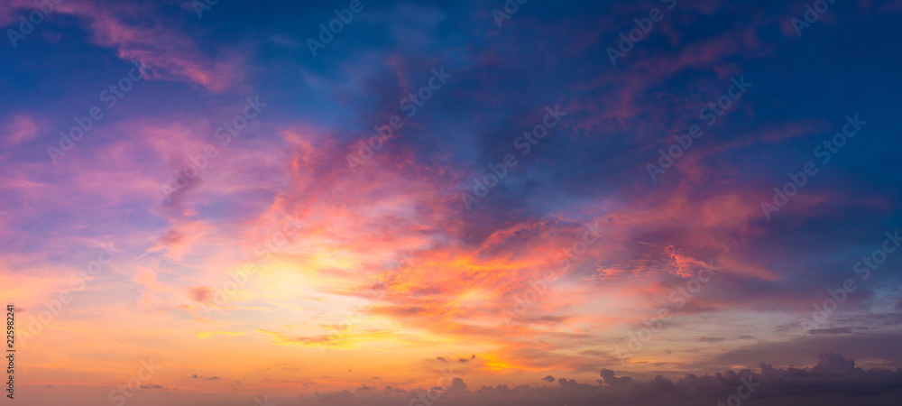 Fototapeta Sunset panorama at Maldives