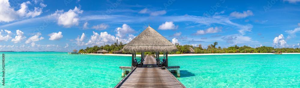 Fototapeta Water Villas (Bungalows) in the Maldives
