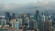 Downtown Chicago and Willis Tower Low Clouds Fog Day Timelapse
