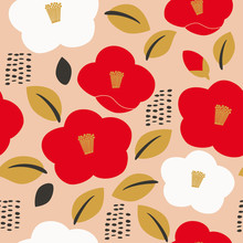 Seamless Pattern Of Camellia F...