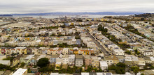 Arerial View Row Houses Streets And Neighborhoods Of South San Francisco California