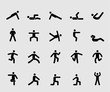 Silhouette icons set for Exercise for Health 1