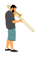 Trombone Player Vector Illustr...