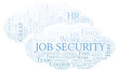Job Security word cloud.