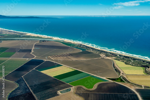 Fotografie, Obraz  Farmland on Pacific Coast in California