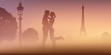 A Paris, Un Un Couple D'amoure...