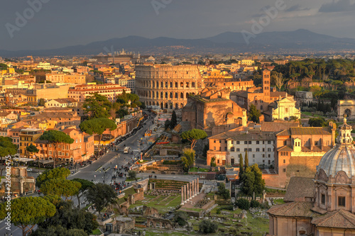 Fotobehang Athene Colosseum - Rome, Italy