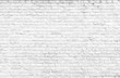 Leinwanddruck Bild - Texture background concept: white brick wall background in rural room