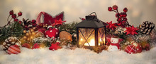 Nostalcig Christmas Decoration Banner