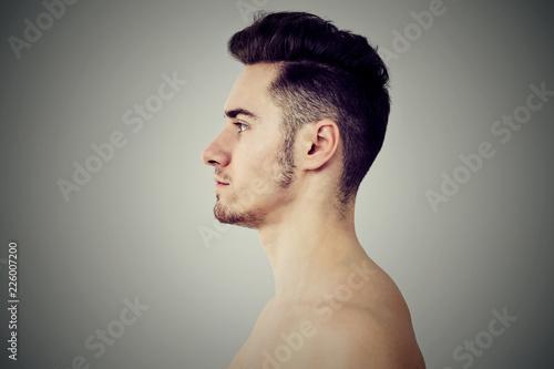 Fotografering  Profile of adult fit man