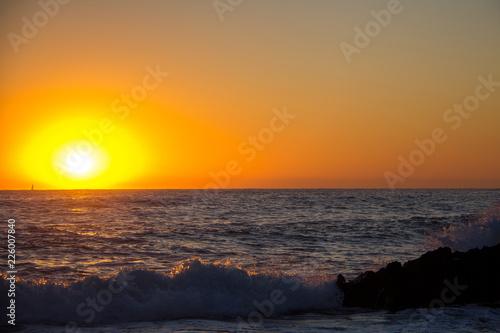 "Obraz na plátně  Sunrise on ""Las Rotas"" beach in Denia, Spain"