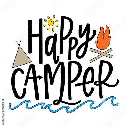 Stampa su Tela  Happy Camper