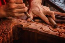 Carving And Polishing Of Mahog...