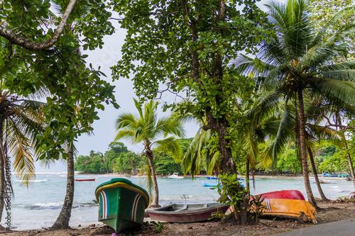 Sea coast in Puerto Viejo de Talamanca village, Costa Rica