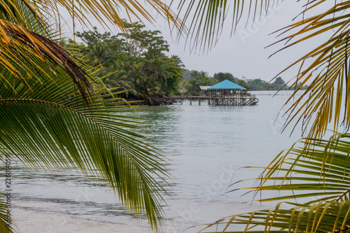 Fotografie, Obraz  Pier on Isla Colon island, part of Bocas del Toro archipelago, Panama
