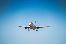 VALENCIA, SPAIN - OCTOBER 2018: Easyjet Plane Flying.