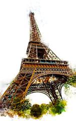 Panel Szklany Paryż Eiffel tower scenes b