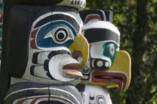First Nations Totem Poles In S...