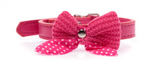 Pink Pet Collar With Polka Dot...