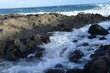 Wavy Beaches of Oahu Island Hawaii USA