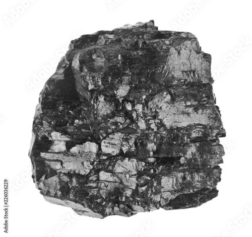 Wallpaper Mural coal isolated on white background