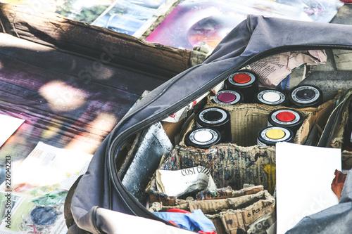 Foto op Aluminium Graffiti Graffiti uliczna sztuka