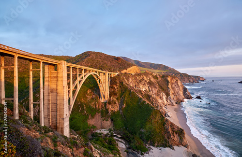 Foto op Aluminium Verenigde Staten Bixby Creek Bridge on Highway 1, California