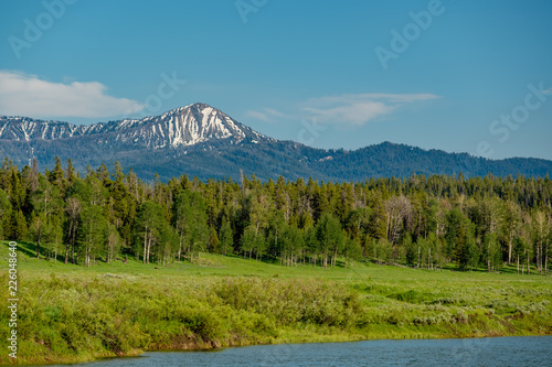 Keuken foto achterwand Verenigde Staten Mountains in Grand Teton National Park