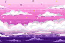 Vector Pixel Background With E...