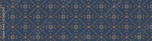 Fotografía Seamless vector Royal pattern background