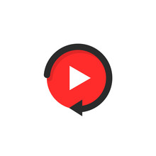 Replay Icon Like Video Play Button