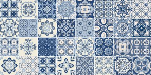 Tradycyjne portugalskie ozdobne płytki dekoracyjne azulejos.