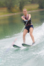 Woman On Water Skis
