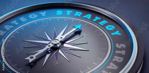 Fototapeta Dunkler Kompass - Konzept Strategy obraz