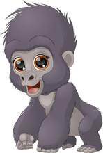 Funny Child A Gorilla