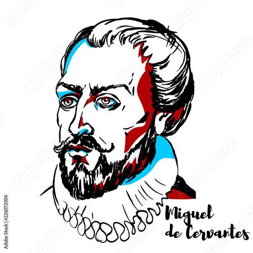 Fotografie, Obraz Miguel de Cervantes Portrait