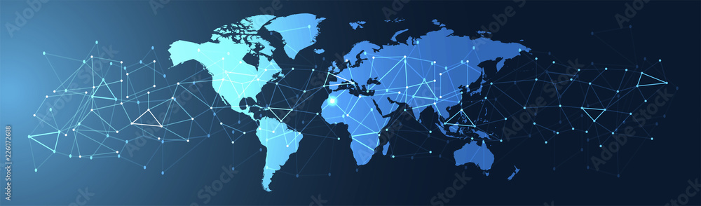 Fototapeta connessioni, internet, web, rete, triangoli,