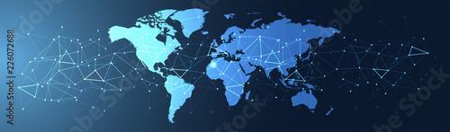 Fotografie, Obraz  connessioni, internet, web, rete, triangoli,