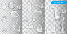 Realistic Shining Water Drops ...