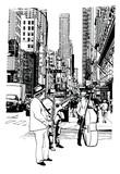 Wykonawcy uliczni grający muzykę na 5th Avenue w Nowym Jorku - 226078058