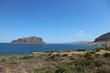 View to magnifisent Monemvasia island and Mediterranean sea, Peloponnese, Greece