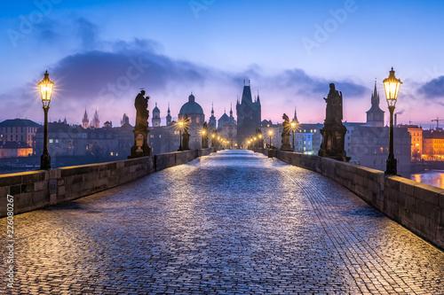 Poster Prague Karlsbrücke in Prag, Tschechien