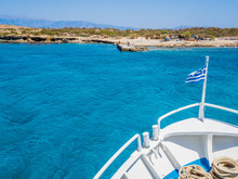 Greek Flag Waving On The Bow O...
