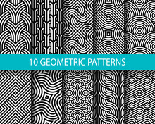 Vector Set Of Ten Geometric Li...