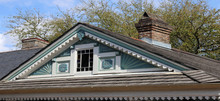 Gable Window And Design Of Homes In Historic District, New Orleans, LA, USA