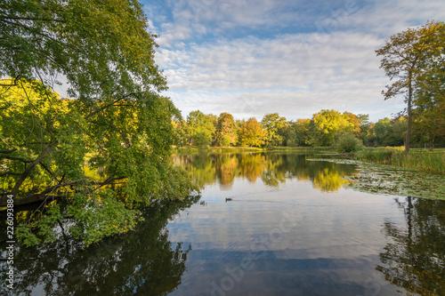 Herbst im Arthur Bretschneider Park in Leipzig Canvas Print