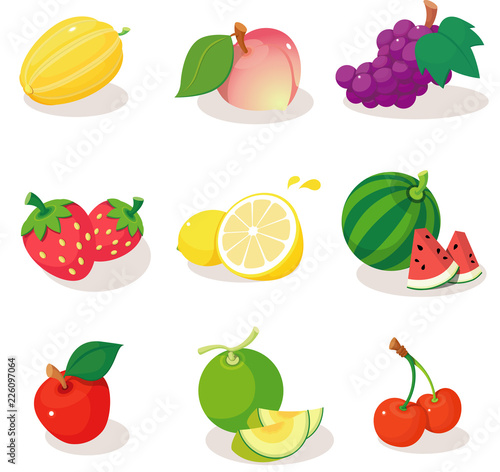 Close-up of various fruits Fototapete