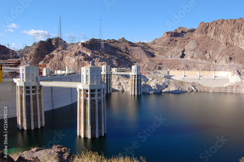 Keuken foto achterwand Dam Hoover Dam, once named as Boulder Dam, is located on the border between Nevada and Arizona, USA.
