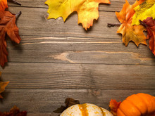 Autumn Background Border