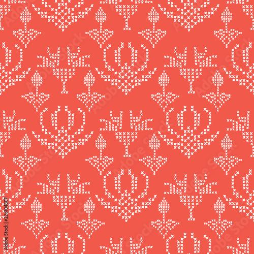 Fotografija  Hand Drawn Embroidery Stitches Seamless Vector Pattern